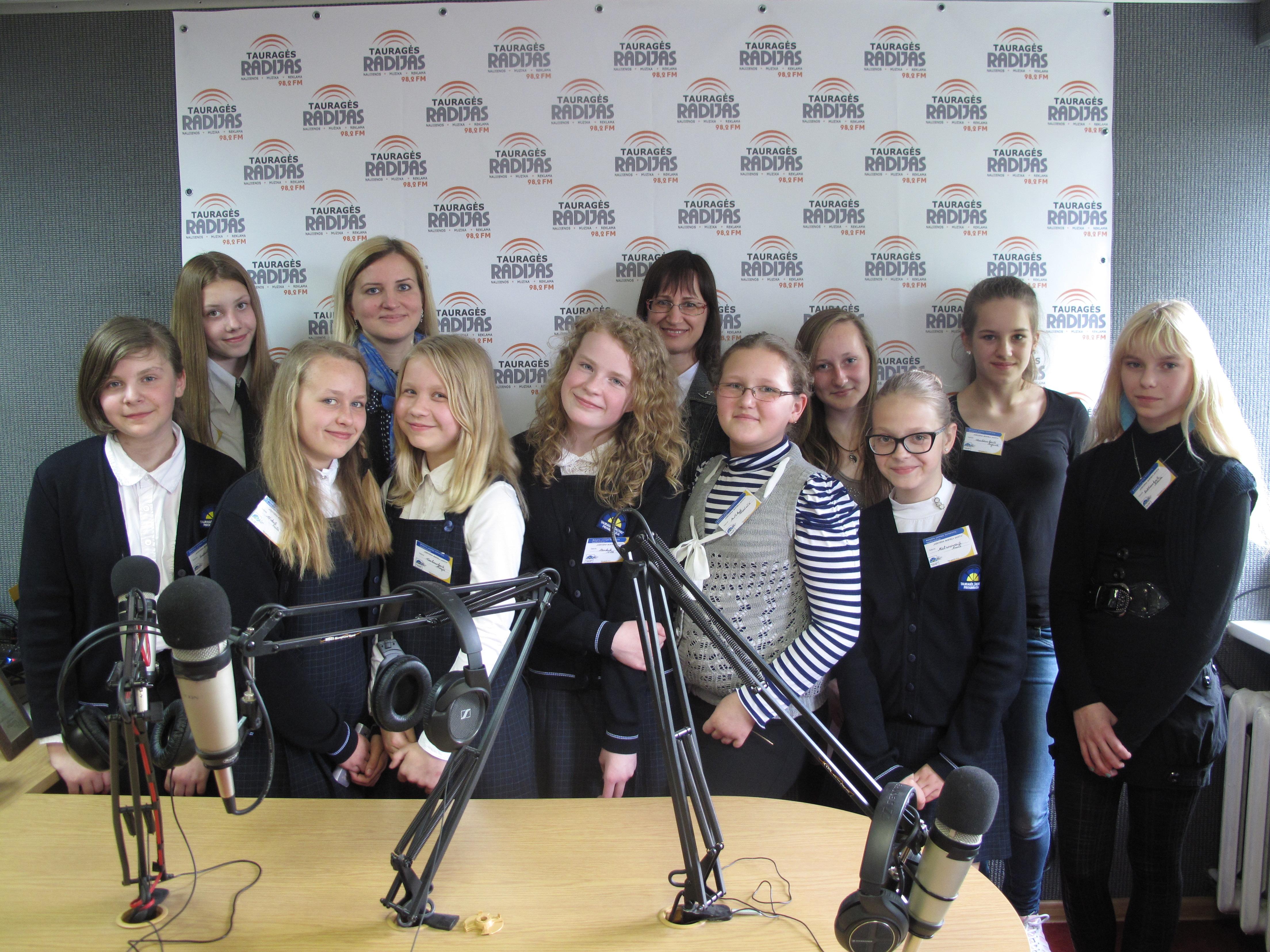 Jaunųjų žurnalistų apsilankymas