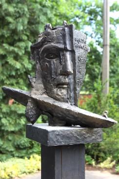 Rašytojo Ernesto Hemingvėjaus skulptūrinio ekslibriso maketas