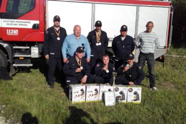 Ugniagesybos varžybose Tauragės AVPG iškovojo antrąją vietą