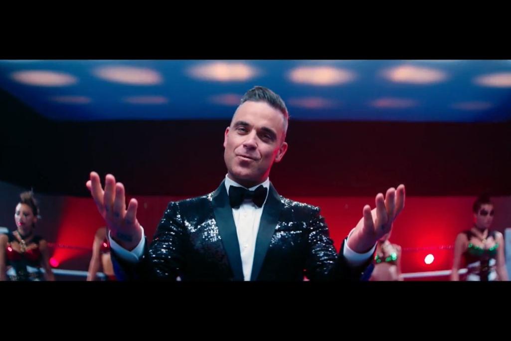 Robbie Williamsas gerbėjams pateikė dvigubą staigmena (video)