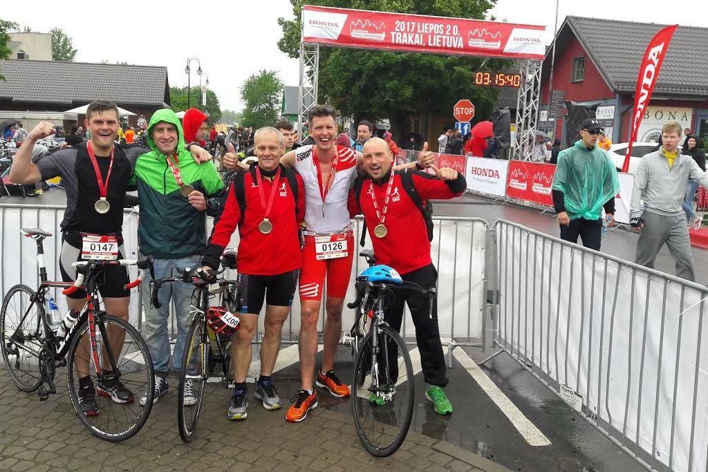 Didžiausiose Triatlono varžybose Lietuvoje startavo keturi Tauragės BMK nariai
