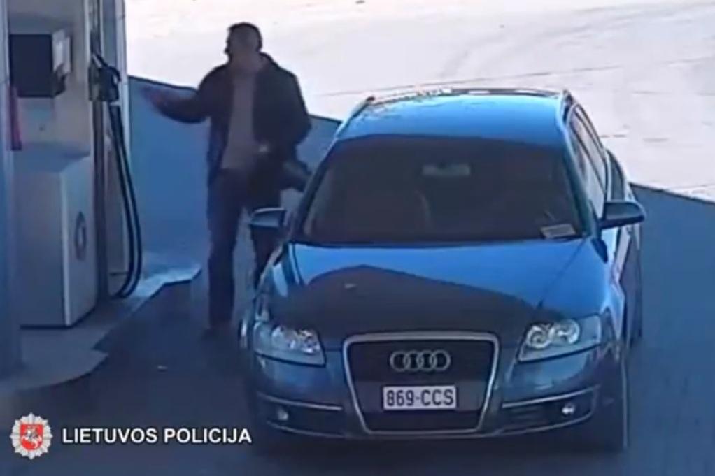 Policijos pareigūnai ieško asmens nepanorusio susimokėti už degalus (video)