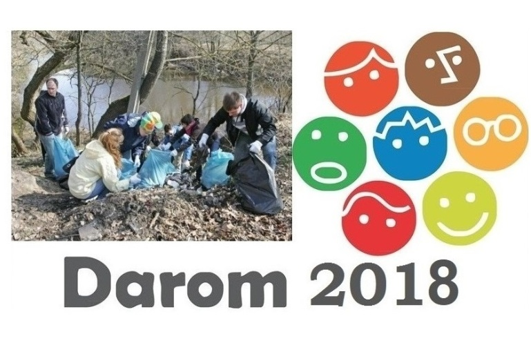 """Aplinkos švarinimo akcija """"Darom 2018"""""""