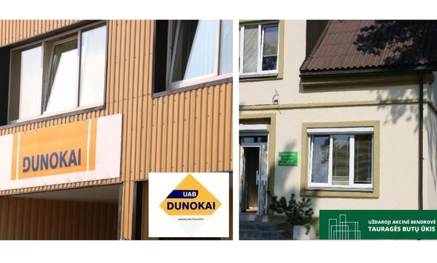 """Parduodamos UAB """"Dunokai"""" (56,14 %) ir UAB Tauragės butų ūkio (100 %) akcijos"""