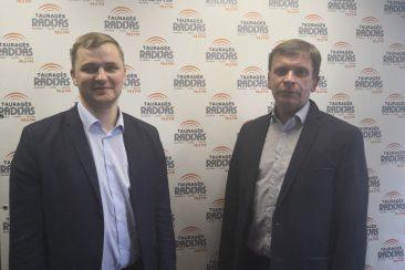 Tauragės rajono savivaldybės administracijos direktorius Modestas Petraitis ir švietimo skyriaus vedėjas Egidijus Šteimantas
