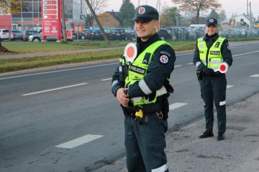 Netikėtas policijos pareigūnų reidas ankstų rytą vyko Tauragėje